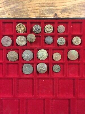 Job Lot Of Military Buttons. Metal Detecting Finds