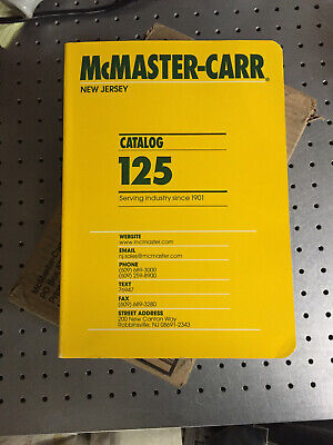 NEW IN SHIPPING BOXMcMaster Carr Catalog #125 New Jersey Edition