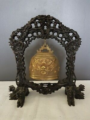 Cloche Gong Chinoise Ancienne Bouddhistes