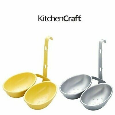 Kitchencraft Antiadherente Doble Huevo Poacher Taza en Varios Colores