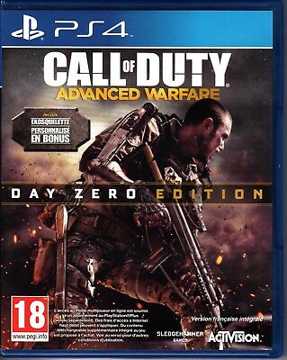 Jeu PS4 : CALL OF DUTY Advanced Warfare - DAY ZERO Edition