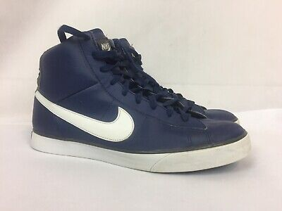 aebc317f NIKE SWEET CLASSIC High Top Leather Sneakers 354701-412 Size 12 Blue