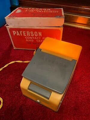 Vintage Photographic Accessory - Boxed Paterson Contact Printer And Safelight