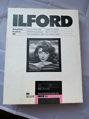 Box Of 100 Sheets Of Ilford Multigrade Photographic Paper