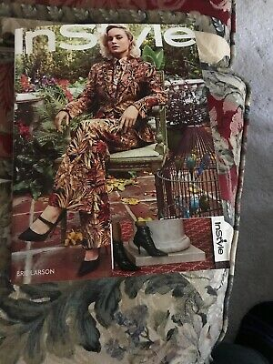 Instyle MAGAZINE March 2019 ISSUE Label Cut Out From Front Cover