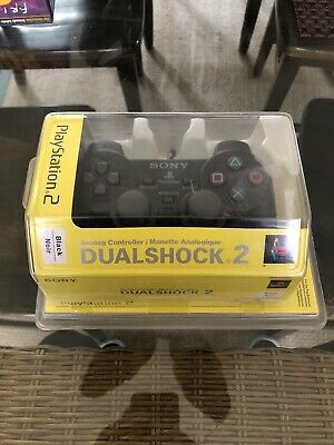 Official Authentic Sony Brand Black Dualshock 2 Controller NEW sealed SCPH 10010
