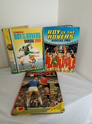 Vintage Football Annuals - Roy Of The Rovers & Shoot!
