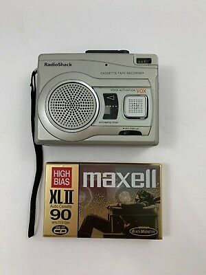 Radio Shack CTR-122 VOX Voice Activated RECORDER Microphone + New Tape Cassette