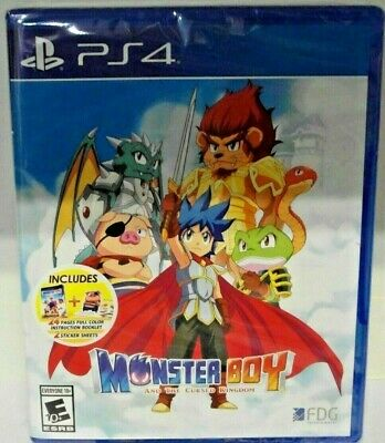 MONSTER BOY THE CURSED KINGDOM PS4 US ENGLISH new sealed Shipping from Europe