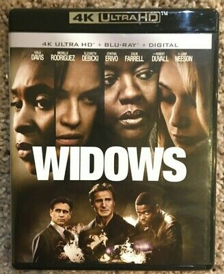 WIDOWS (4K ULTRA HD/BLU RAY, 2019) In Excellent Condition!!!