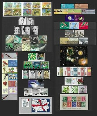 Gb 2002. A Complete Year Of 11 Sets Of Commemorative Stamps+1 Sheetlet+3 Ms. Mnh