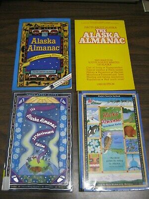 Lot of 4 Alaska Almanacs 1980 Edition 20th Edition 25th Edition 31st Edition