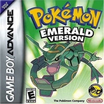 Pokemon Emerald For GBA For Gameboy Advance SP DS US EUR Version