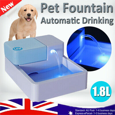 1.8L LED Automatic Electric Pet Water Fountain Dog Cat Drinking Bowl AU Plug