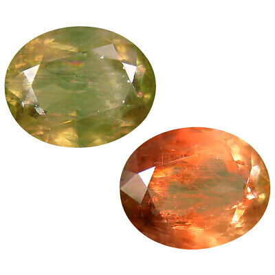 6.62 ct Best Oval Shape (13 x 11 mm) Un-Heated Color Change Diaspore Gemstone