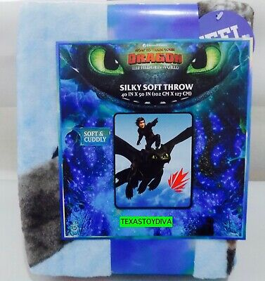 "*How To Train Your Dragon* Hidden World 40""X50"" Silky Soft Throw Blanket Fury"