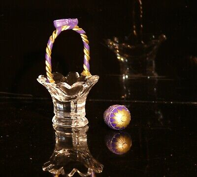 Waterford Jewels Crystal Ireland Easter Egg With Basket  + Leaflet Exquisite