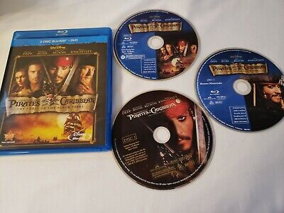Pirates of the Caribbean: The Curse of the Black Pearl (3-Disc Bluray/DVD, 2003)