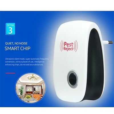Ultrasonic Pest Mosquito Repeller Electronic Anti Bug Insect Cockroach Reject