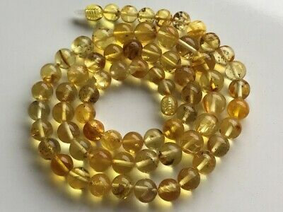 Natural Antique Baltic Vintage Amber OLD BUTTERSCOTCH  BEADS Necklace 23.23 gr