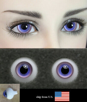 14mm violet blue high quality glass bjd doll eyes dollfie msd luts M-34 ShipUS