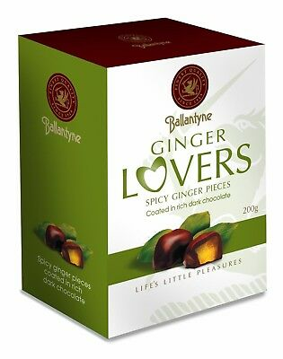 Dark Chocolate Coated Spicy Ginger in 200g Gift Box Packed Hamper