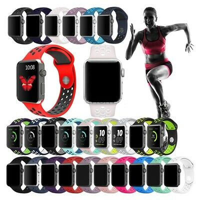 Silicone Sport Watch Band Strap For Apple Watch iWatch 4 3 2 1 40/44mm 38/42mm