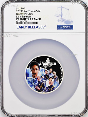 2019 Star Trek: Discovery Crew 2oz .9999 Silver Proof $2 Coin NGC PF70 ER