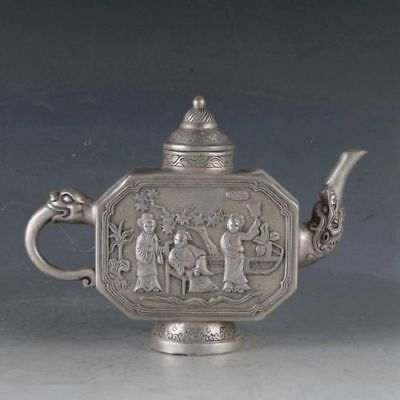 Chinese Silvering Copper Beauty Teapot Made During The Qianlong Period