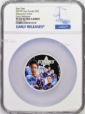 2019 Star Trek: Discovery Crew 2oz .9999 Silver Proof $2 Coin NGC PF69 ER