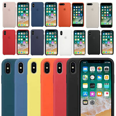 Genuine Official Funda Hard Silicone Case Cover for Apple i Phone XR 8 7 6s Plus
