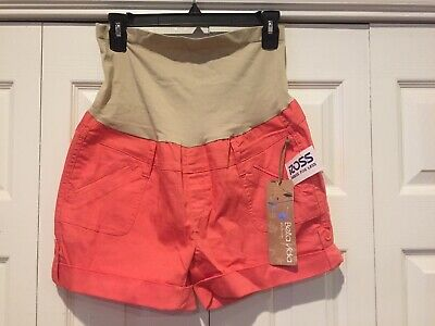 New With Tags Bella Vida Peach Color Maternity Shorts Size XL!!! Free Tracking