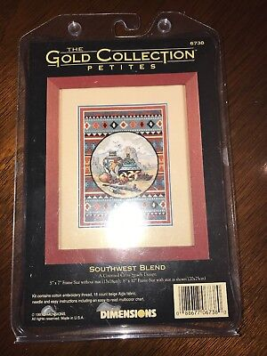 1997 DIMENSIONS Gold Collection Cross Stitch Kit  6738 SOUTHWEST BLEND -NEW