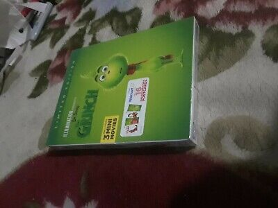 Dr. Seuss'  The Grinch Blu Ray + Dvd Walmart Exclusive Limited Edition Postcard