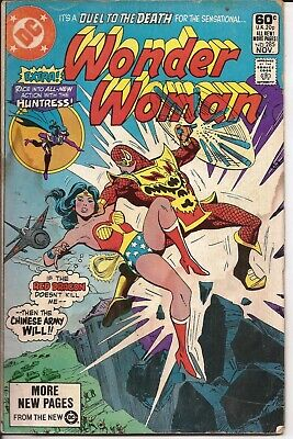 DC Wonder Woman #285 Dragon Hunt Red Dragon The Huntress Duel To The Death