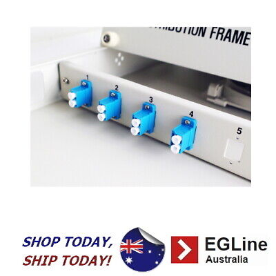 """Fibre Optic Patch Panel for 19"""" rack - 1RU-Sliding Cover / LC Type"""