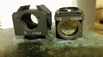 2 Filter Cubes Leica fluorescence microscope: A cube (513596), L5 cube (513596)