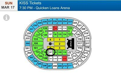 Kiss Tickets End Of The Road Tour Cleveland Section 107 Row 8 Seats 1,2