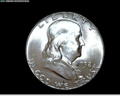 1952 Uncirculated Silver Franklin Half Dollar #8268