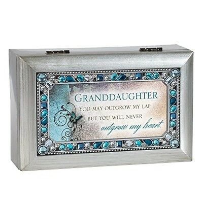 Granddaughter Jeweled Silver Jewelry Music Box Plays Tune You Are My Sunshine