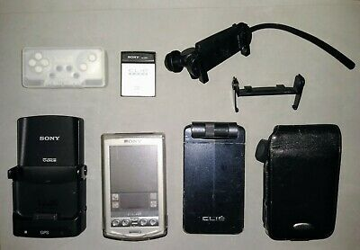 Sony CLIE lot - PEG-N760C & PEG-NX73V/U - with accessories - FOR PARTS OR REPAIR