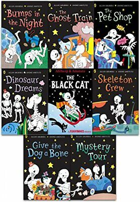 Funny Bones 8 Books Collection Set by Allan Ahlberg ( Bumps in the Night, Dinosa