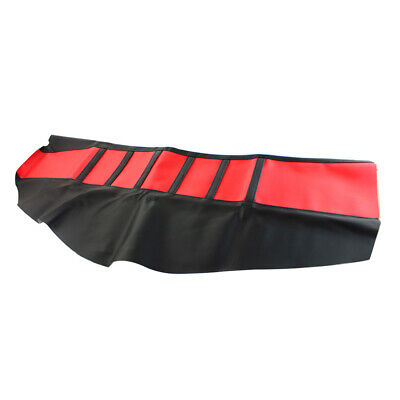 1x Red Pro Rib Ribbed Gripper Soft Seat Cover For Suzuki RM125 RM250 Dirt Bike