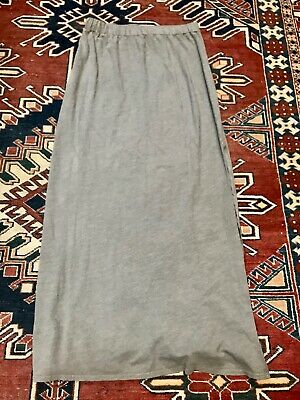 MICHAEL STARS Gray Jersey Maxi Skirt with Side Slit Stretch Size L NEW WITH TAGS