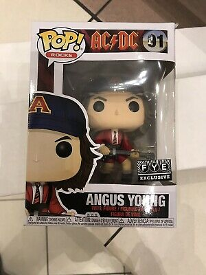 Funko Pop! AC/DC Angus Young With Guitar Red Jacket Fye Exclusive In Protector