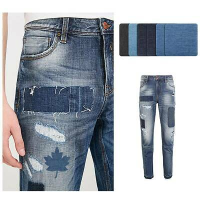 2PCS Iron-on Patch Elbow Knee Repair Denim Jeans Patches Clothing DIY Applique