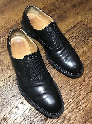a78a158494a GUCCI Men s UK 9   US 10 Black Leather Oxford Lace Up Dress Shoes Italy  Rubber