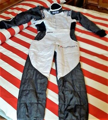 Tuta Rally Racing Sparco Rs 5 Bianco / Blu / Jeans Tg. 48 Fia 8856 - 2000