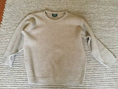 Men's Jumper THE PURE AUSTRALIAN SWEATER Pure New Wool Size 20 Beige Rib Knit