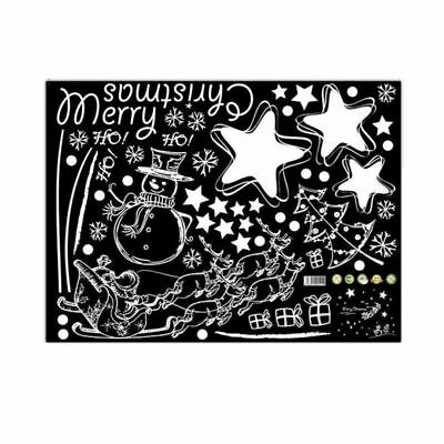 2X(Wall Stickers merry christmas background wall decoration Removable (D, 4 S6W3